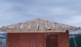Montáž priehradových väzníkov v Družstevnej pri Hornáde